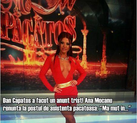 "Ana Mocanu renunta postul de asistenta pacatoasa: ""Ma mut in…"""