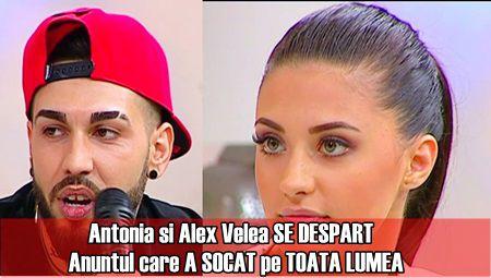 Antonia si Alex Velea SE DESPART. Anuntul care A SOCAT pe TOATA LUMEA