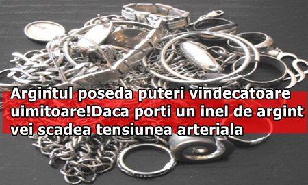 Argintul poseda puteri vindecatoare uimitoare! Daca porti un inel de argint vei scadea tensiunea arteriala