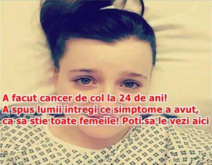 A facut cancer de col la 24 de ani! A spus lumii intregi ce simptome a avut, ca sa stie toate femeile! Poti sa le vezi aici