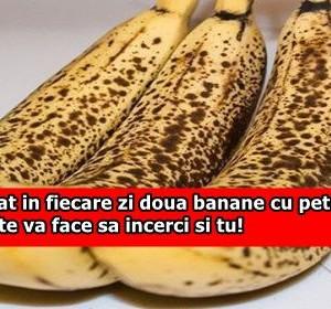 A mancat in fiecare zi doua banane cu pete negre. Efectul te va face sa incerci si tu!