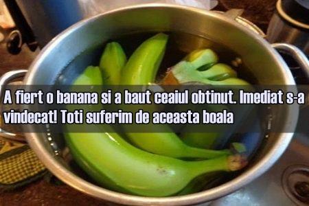 A fiert o banana si a baut ceaiul obtinut. Imediat s-a vindecat!