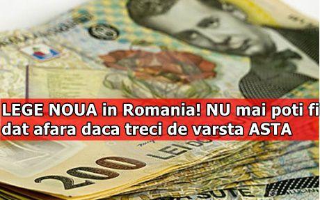 LEGE NOUA in Romania! NU mai poti fi dat afara daca treci de varsta ASTA