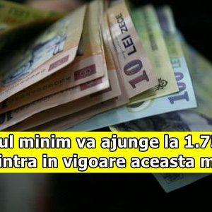 Salariul minim va ajunge la 1.750 lei. Cand intra in vigoare aceasta masura