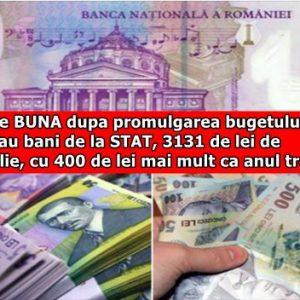 Veste BUNA dupa promulgarea bugetului! Se dau bani de la STAT, 3131 de lei de familie, cu 400 de lei mai mult ca anul trecut