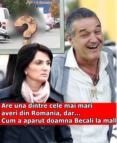Are una dintre cele mai mari averi din Romania, dar… Cum a aparut doamna Becali la mall
