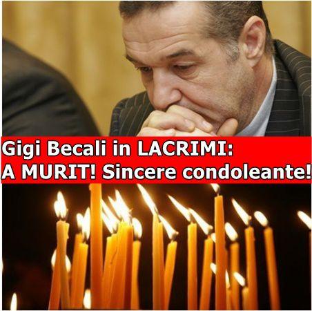 Gigi Becali in LACRIMI: A MURIT! Sincere condoleante!