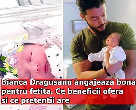Bianca Dragusanu angajeaza bona pentru fetita. Ce beneficii ofera si ce pretentii are