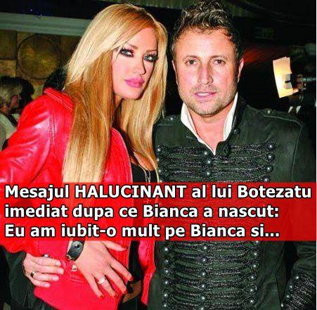 Mesajul HALUCINANT al lui Botezatu imediat dupa ce Bianca a nascut: Eu am iubit-o mult pe Bianca si…