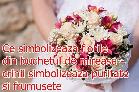 Simbolismul florilor pentru buchetele de mireasa: crinii simbolizeaza puritatea si frumusetea