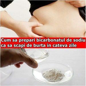 Cum sa prepari bicarbonatul de sodiu ca sa scapi de burta in cateva zile