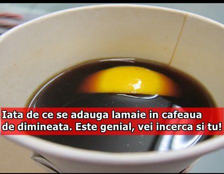Iata de ce se adauga lamaie in cafeaua de dimineata. Este genial, vei incerca si tu!