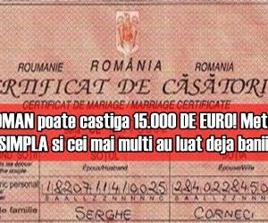 Orice ROMAN poate castiga 15.000 DE EURO! Metoda este FOARTE SIMPLA si cei mai multi au luat deja banii