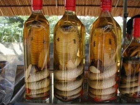 O femeie a tinut un sarpe intr-o sticla cu alcool timp de 3 luni