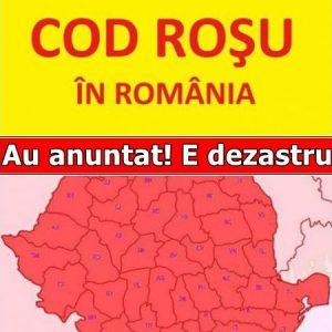 COD ROSU in ROMANIA! Au anuntat! E dezastru