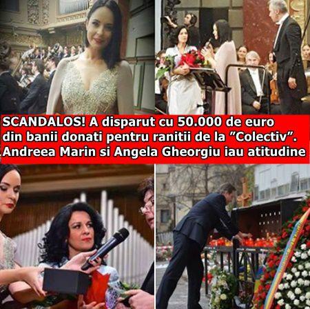 """SCANDALOS! A disparut cu 50.000 de euro din banii donati pentru ranitii de la """"Colectiv"""". Andreea Marin si Angela Gheorgiu iau atitudine"""