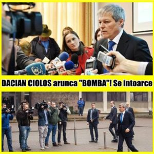 "DACIAN CIOLOS arunca ""BOMBA""! Se intoarce"