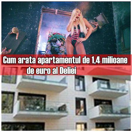 Cum arata apartamentul de 1,4 milioane de euro al Deliei