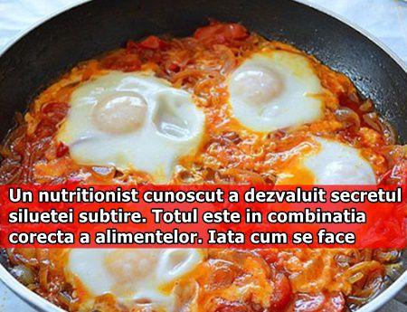 Un nutritionist cunoscut a dezvaluit secretul siluetei subtire. Totul este in combinatia corecta a alimentelor. Iata cum se face