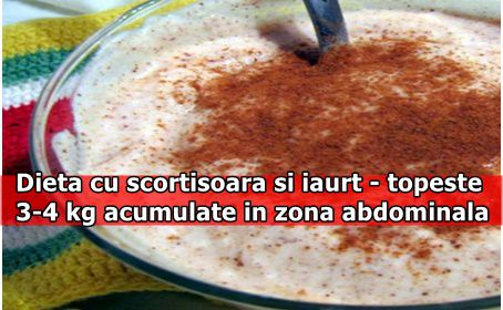 Dieta cu scortisoara si iaurt - topeste 3-4 kg acumulate in zona abdominala