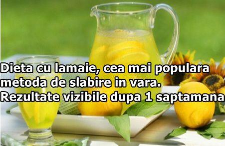 Dieta cu lamaie, cea mai populara metoda de slabire in vara. Rezultate vizibile dupa 1 saptamana