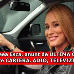 Andreea Esca, anunt de ULTIMA ORA despre CARIERA. ADIO, TELEVIZIUNE!