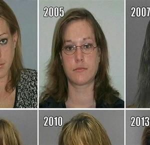 Aceasta femeie a fost arestata de 23 de ori in 10 de ani. Transformarea sa este cu adevarat socanta!