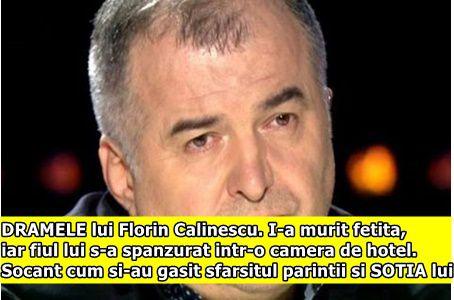 DRAMELE lui Florin Calinescu. I-a murit fetita, iar fiul lui s-a spanzurat intr-o camera de hotel. Socant cum si-au gasit sfarsitul parintii si SOTIA lui