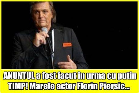 ANUNTUL a fost facut in urma cu putin TIMP! Marele actor Florin Piersic…