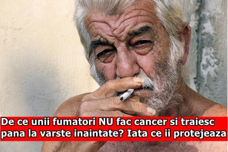 De ce unii fumatori NU fac cancer si traiesc pana la varste inaintate? Iata ce ii protejeaza