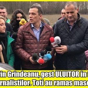 Sorin Grindeanu, gest ULUITOR in fata jurnalistilor. Toti au ramas masca