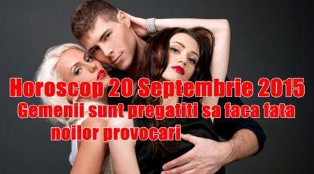 Horoscop 20 Septembrie 2015