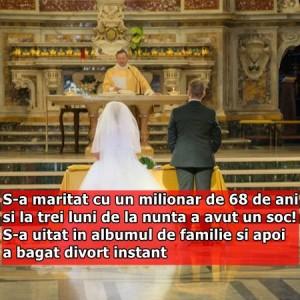 S-a maritat cu un milionar de 68 de ani si la trei luni de la nunta a avut un soc! S-a uitat in albumul de familie si apoi a bagat divort instant