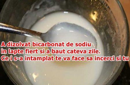 A dizolvat bicarbonat de sodiu in lapte fiert si a baut cateva zile. Ce i s-a intamplat te va face sa incerci si tu
