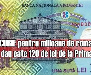 BUCURIE pentru milioane de romani! Se dau cate 120 de lei de la Primarie