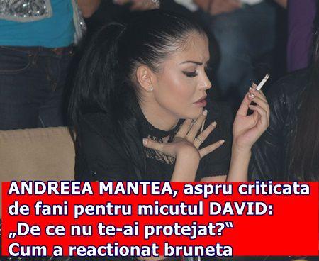 """ANDREEA MANTEA, aspru criticata de fani pentru micutul DAVID: """"De ce nu te-ai protejat?"""" Cum a reactionat bruneta"""