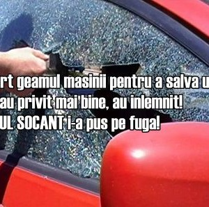 Au spart geamul masinii pentru a salva un copil. Cand l-au privit mai bine, au inlemnit! DETALIUL SOCANT i-a pus pe fuga!