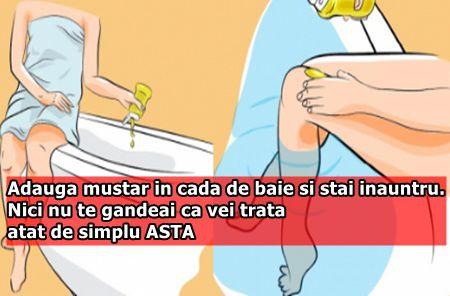 Adauga mustar in cada de baie si stai inauntru. Nici nu te gandeai ca vei trata atat de simplu ASTA