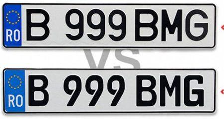 De ce unele masini au numerele de inmatriculare cu distanta mare intre litere
