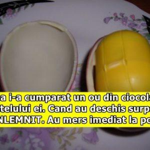 Mama i-a cumparat un ou din ciocolata baietelului ei. Cand au deschis surpriza, au INLEMNIT. Au mers imediat la politie. Ce era acolo