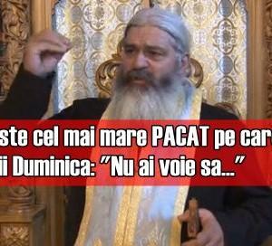 """Asta este cel mai mare PACAT pe care il fac romanii Duminica: """"Nu ai voie sa…"""""""