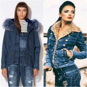 Geci la moda in toamna-iarna 2016-2017: se poarta geaca din denim cu blanita