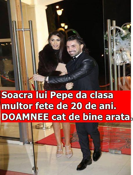 Soacra lui Pepe da clasa multor fete de 20 de ani. DOAMNEE cat de bine arata.