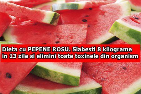 Dieta cu PEPENE ROSU. Slabesti 8 kilograme in 13 zile si elimini toate toxinele din organism