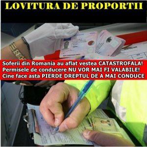 Soferii din Romania au aflat vestea CATASTROFALA! Permisele de conducere NU VOR MAI FI VALABILE! Cine face asta PIERDE DREPTUL DE A MAI CONDUCE