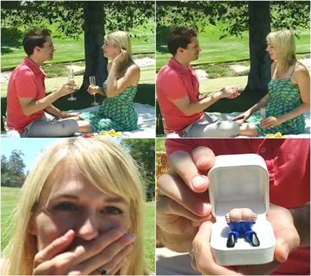 A crezut ca ii ofera un inel de logodna. Cand a deschis cutiuta a gasit ceva socant!