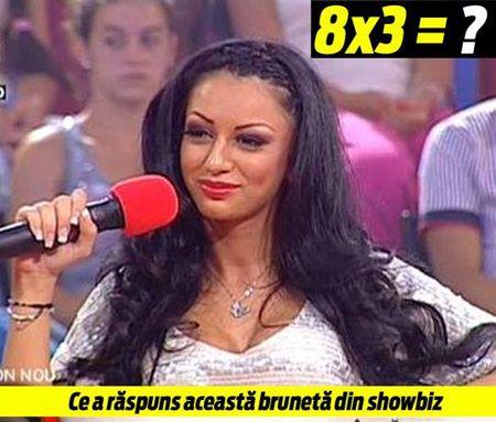 raspuns Ce a raspuns aceasta bruneta cand a fost intrebata Cat face 8x3?