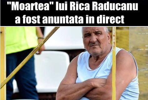 """""""Moartea"""" lui Rica Raducanu a fost anuntata in direct"""