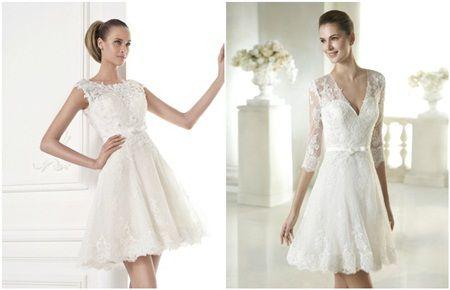 Tendinte rochii de mireasa scurte 2015