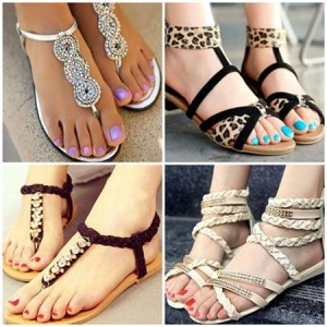 5 super combinatii de sandale si modele de pedichiura